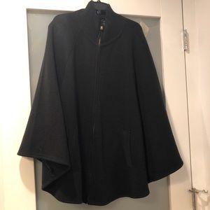 Cejon Kint Womans Zipper Cape/Poncho Black S/M